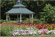 Gazebo with flower bed