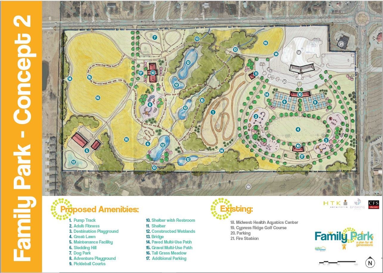Concept 2 architect's rendering for Family Park