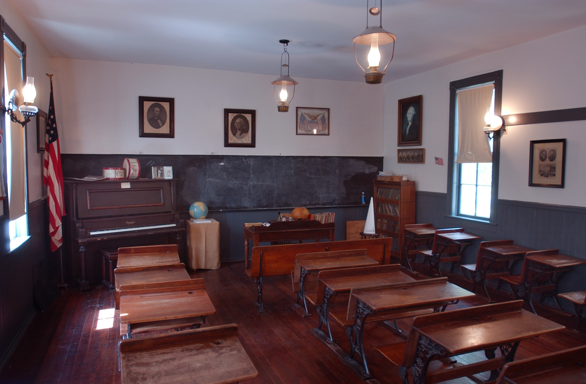 Old Prairie Town One Room Schoolhouse