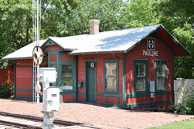 Pauline Train Depot at Old Prairie Town