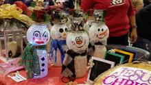 Snowman jars at Holiday Craft Show