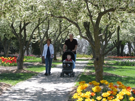Lake Shawnee Tulip Time Couple Walking1.jpg